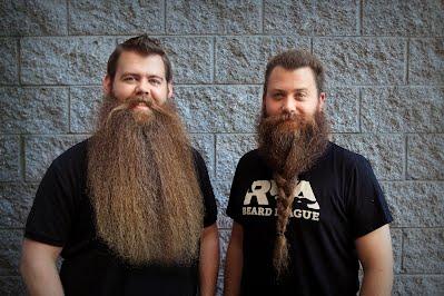 Josh Black and Chad Roberts of the RVA Beard League