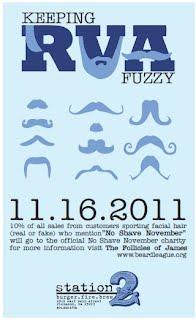 Station 2 supports No Shave November